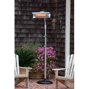 infrared patio heater. Stainless Steel Telescoping Offset Pole Mounted Infrared Patio Heater