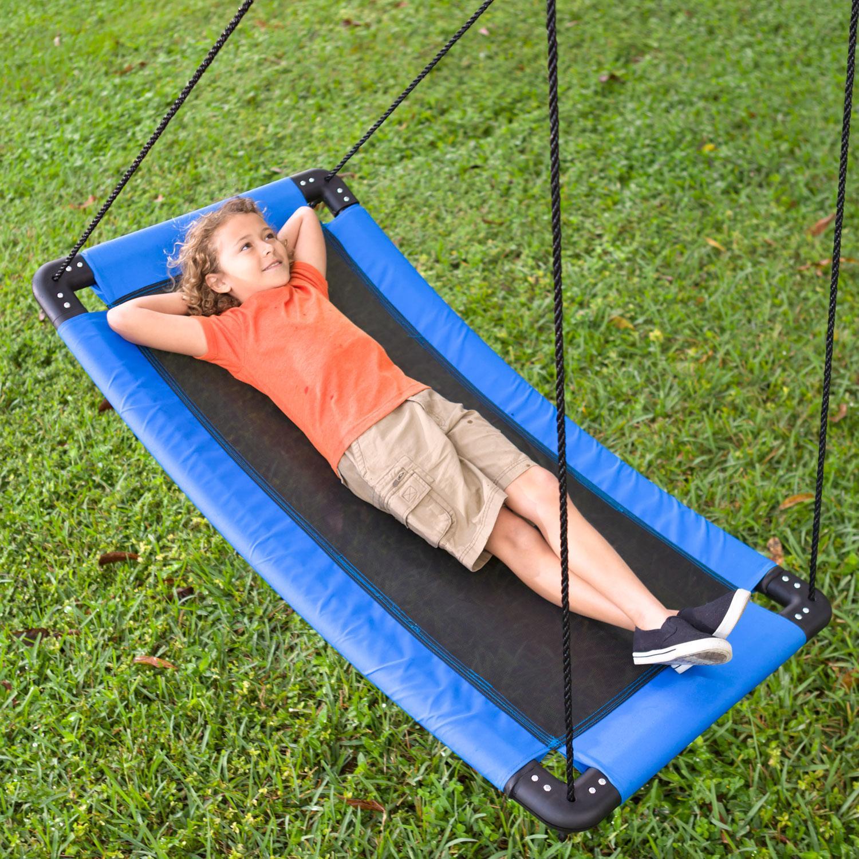 Hearthsong 174 Skycurve Hanging Platform Rope Tree Swing For