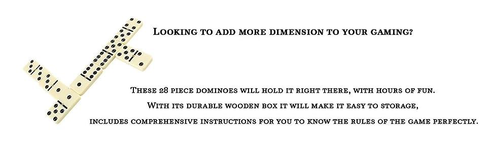 Amazon Domino Set Premium Classic 28 Pieces Double Six In