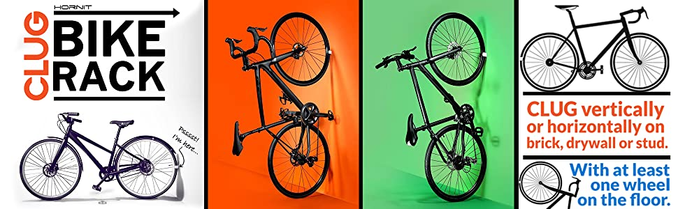 7cdb38e3d92 Clug bike rack clip hanging hook wall garage organize adult kids bicycles  cycle indoor outdoor