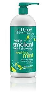 Very Emollient Sparkling Mint Bath & Shower Gel