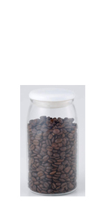 コーヒー豆 珈琲豆 容器 保存 耐熱ガラス