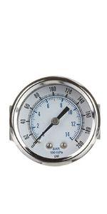 U-Clamp Panel Mount Dry Pressure Gauge