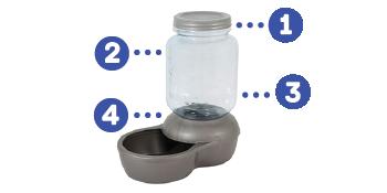 big dog waterer, mason jar dog feeder, mason jar dog, mason jar dog waterer, replendish filter,