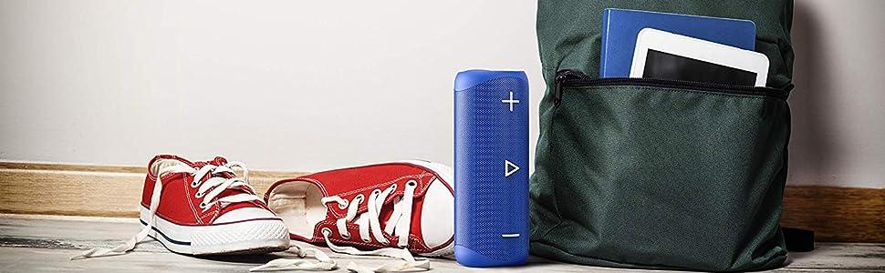 Sharp Gx Bt280 Bl Stereo Bluetooth Speaker Powerful Bass Highly Dynamic Sound Range 12 Hours Playtime Dust Splashproof Microphone For Phone Calls Google Siri Blue Mp3 Hifi