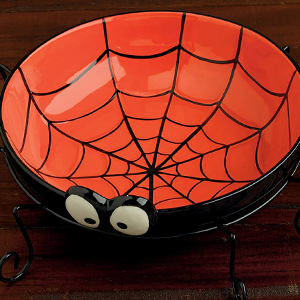candy dish, spider decor, ceramic, decorative accessories, trick or treat bowl, scary, surprise