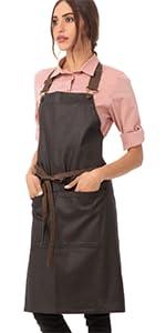 Chef Works Unisex Boulder Bib Apron