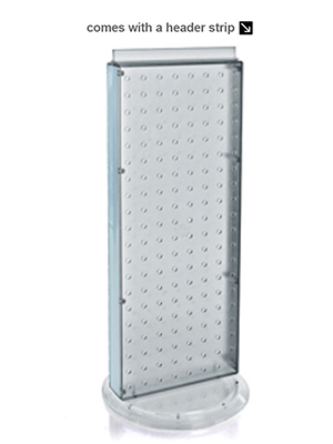 Clear Azar 700508-CLR 8-Inch W by 20-Inch H Revolving Clear Pegboard Counter Unit