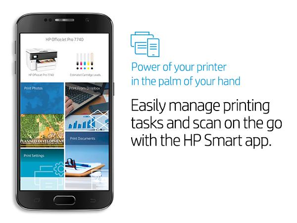 Amazon com: HP OfficeJet Pro 7740 Wide Format All-in-One