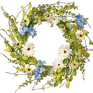 Wreath Blue Hydrangeas