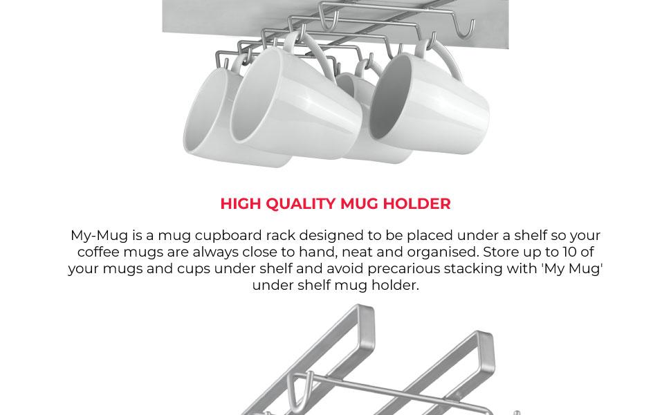 READY STOCK Wooden Tree Shape Coffee Mug Tree Tea Cup Holder Stand Mug Storage Rack With 6 Hooks