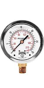 pressure gauges, liquid filled pressure gauges, vibration gauges