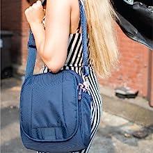 Adjusteable strap provide a wide range of adjustment
