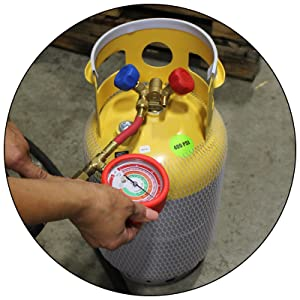 30 lb refrigerant recovery cylinder mastercool