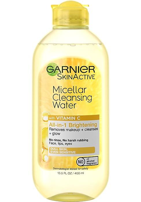 micellar water, remove makeup with micellar water, vitamin c skin care, garnier micellar water