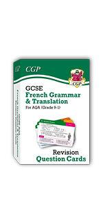 GCSE French AQA Grammar & Translation Revision Cards