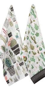 apron boho, succulent, cactus towel  cactus dish set, cactus tablecloth, dish towel,