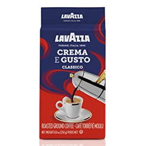 lavazza, crema, e, gusto, coffee, ground, espresso