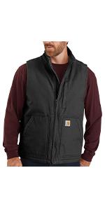 carhartt, mens, vests, work