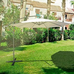 Chillvert KCH220 - Parasol Jardín Alumnio Florencia 300x300x235 cm ...