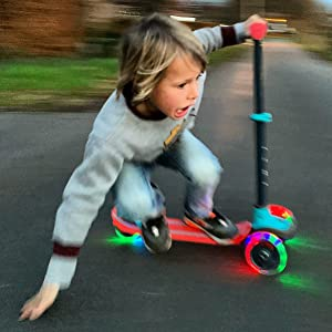 Scotti Glow, Chillafish, Scooter, wheelbase, pennyboard,, 4 years, outdoor, 7 years, LED wheels