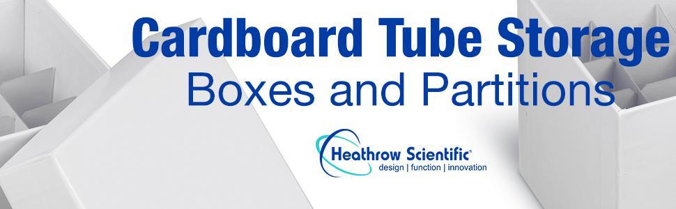 tube Storage Box Partition Heathrow Scientific Cardboard disposable lab holder test supply 15mL 50mL