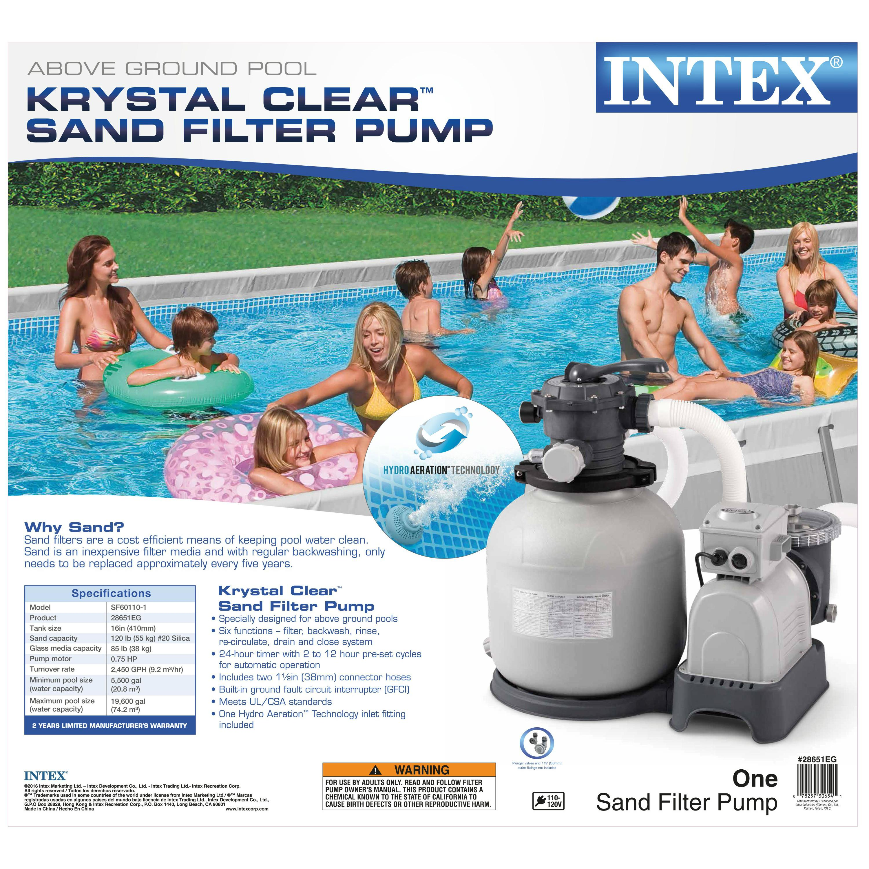 Intex 28651eg 3000 Gph Sand Filter Pump With Gfci 110 120 Volt Ebay