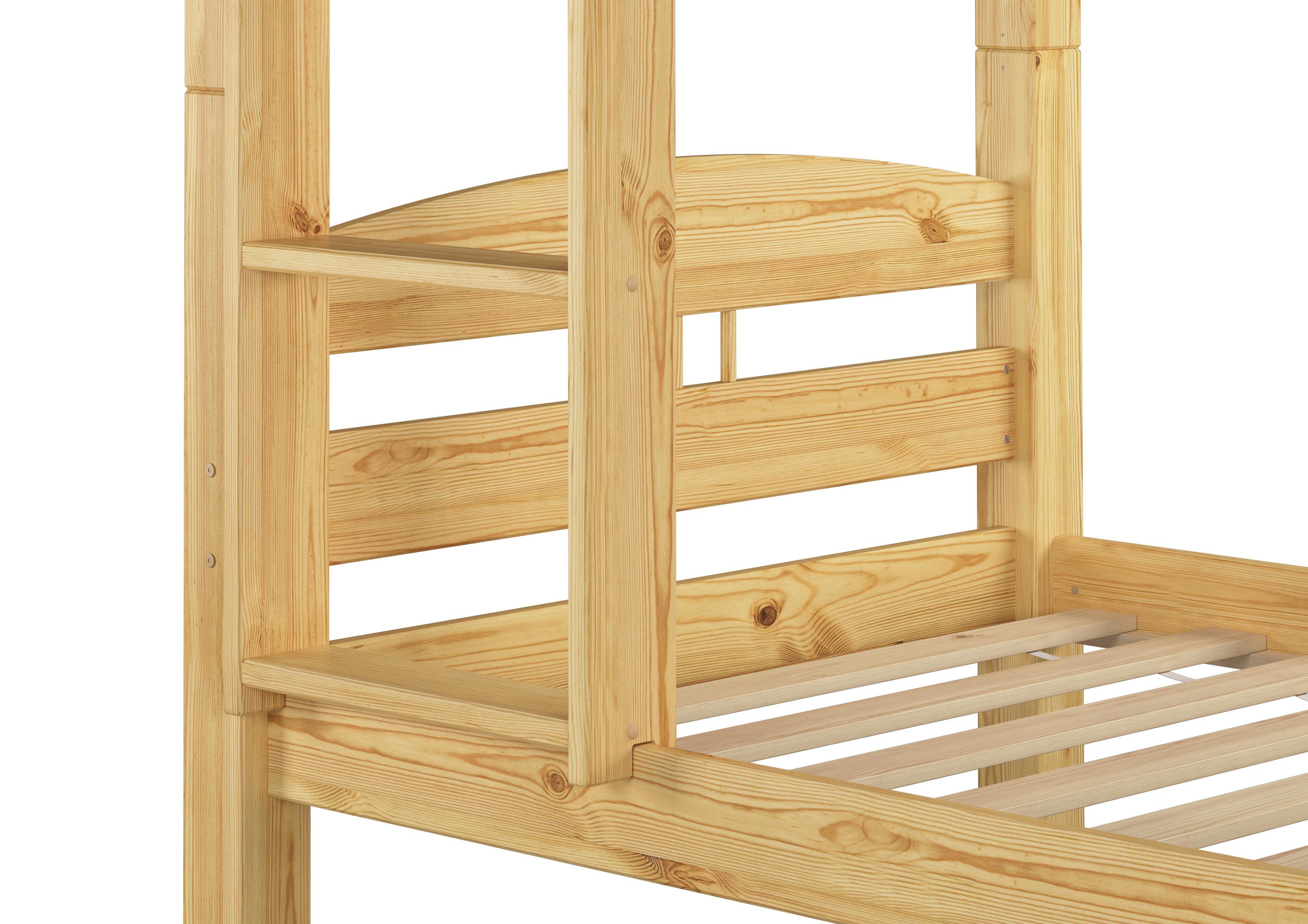 Erst-Holz® Stockbett Etagenbett Kiefer 90x200 massives