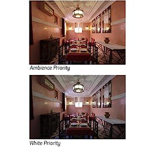 "Auto White Balance with ""White Priority"""