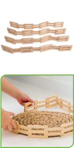 Wooden Fences - Set of 4