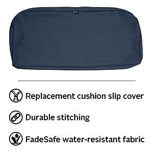 Montlake FadeSafe Patio Bench/Loveseat Cushion Slip Cover