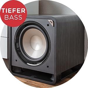 Polk Audio Hts 12 Aktivsubwoofer Für Heimkino Soundsysteme Und Musik 12 Bass Box 400 Watt Schwarz Audio Hifi
