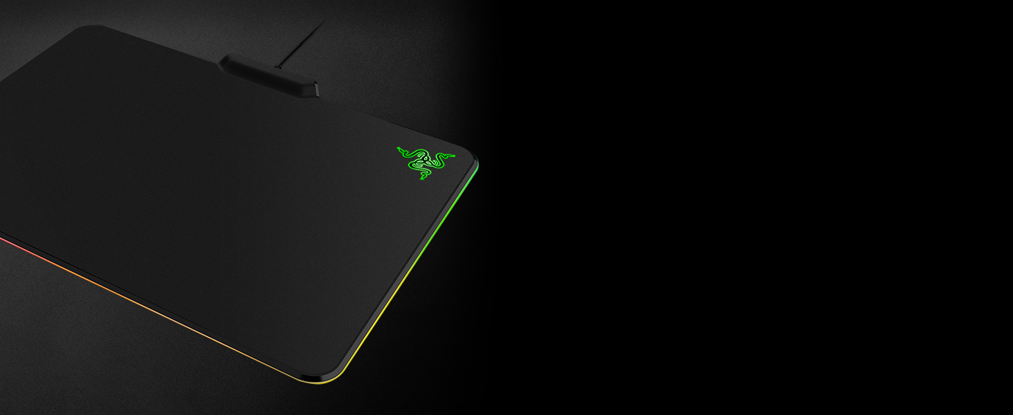 Razer RZ02-01350100-R3M1 Firefly Hard Gaming Mouse Mat with RGB Custom  Lighting (Mouse Pad Preferred by Pro Gamers-Matte Finish