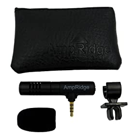 Ampridge MMSP MightyMic S+ Shotgun Cardioid Video Microphone for iPhone/iPad/Android with Headphone Monitor 22