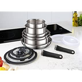 Ingenio Stainless Steel 13 Pieces Cookware Set, L9409042