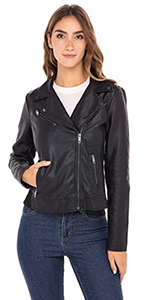 moto jacket faux leather