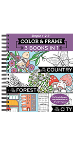 country forest city adult coloring book teen grown up seniors activity book