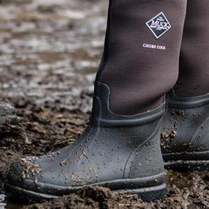 Muckboot Chore Hi Wellington Boots Neoprene Wellies Stable Boots Black Size 37-46