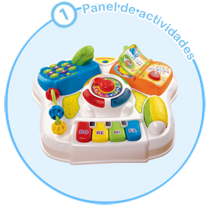 VTech Baby - Mesita parlanchina 2 en 1, mesa de actividades infantil con panel interactivo de actividades extraíble (80-148022)
