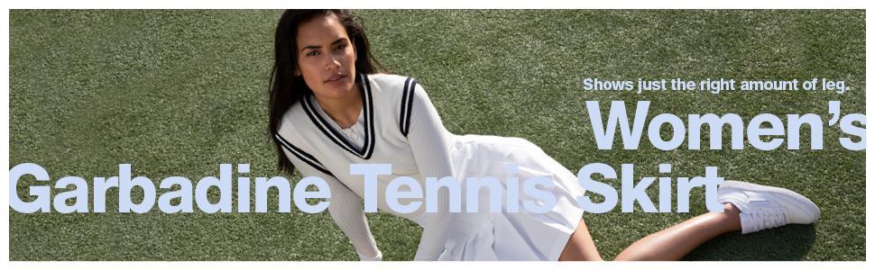 women's, garbadine, tennis skirt, american apparel