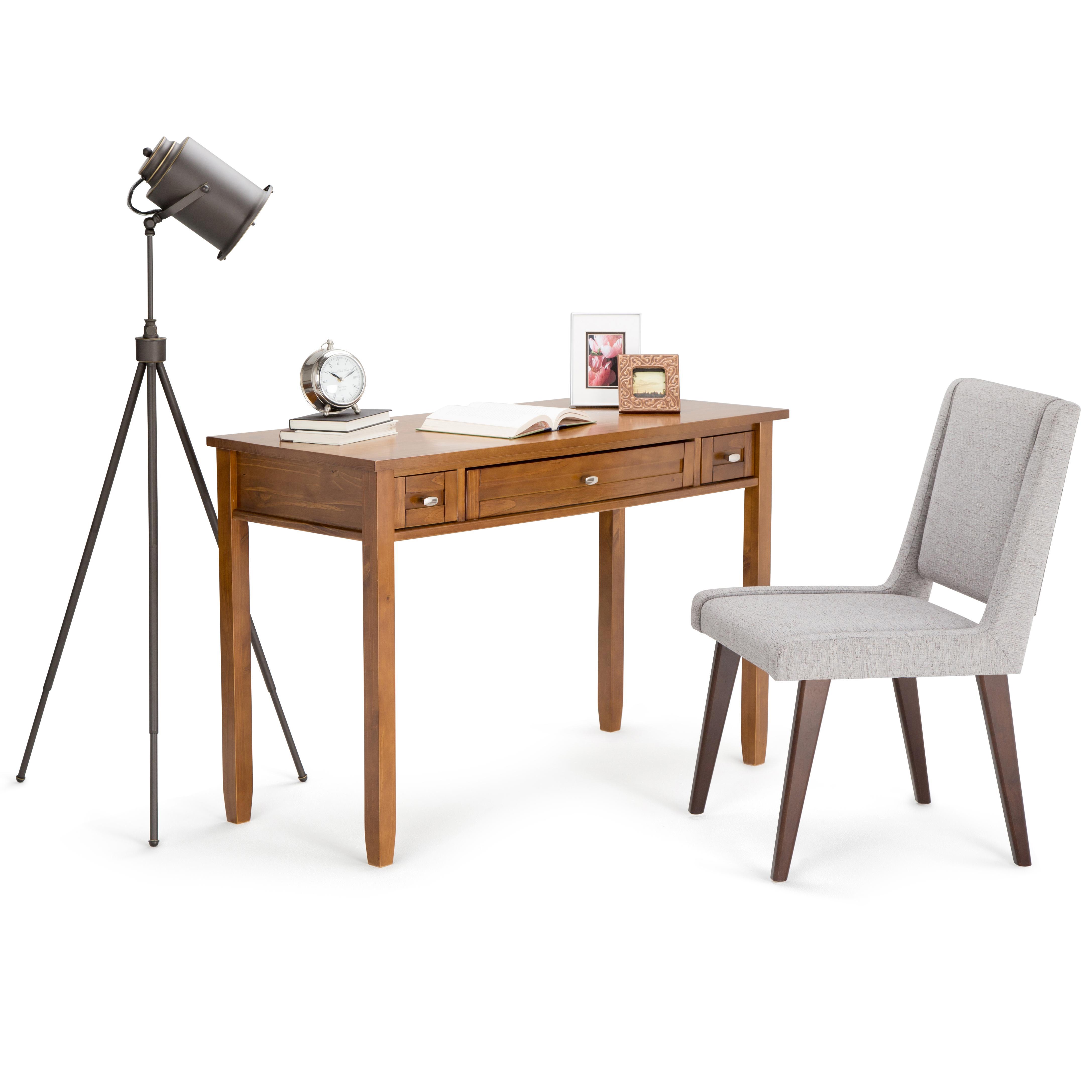 simpli home warm shaker solid wood desk honey brown kitchen dining. Black Bedroom Furniture Sets. Home Design Ideas