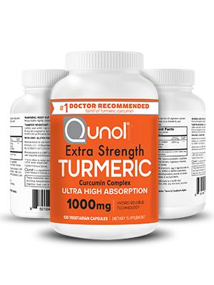 Turmeric Curcumin 1000mg Capsules Qunol Pain Relief Extra Strength