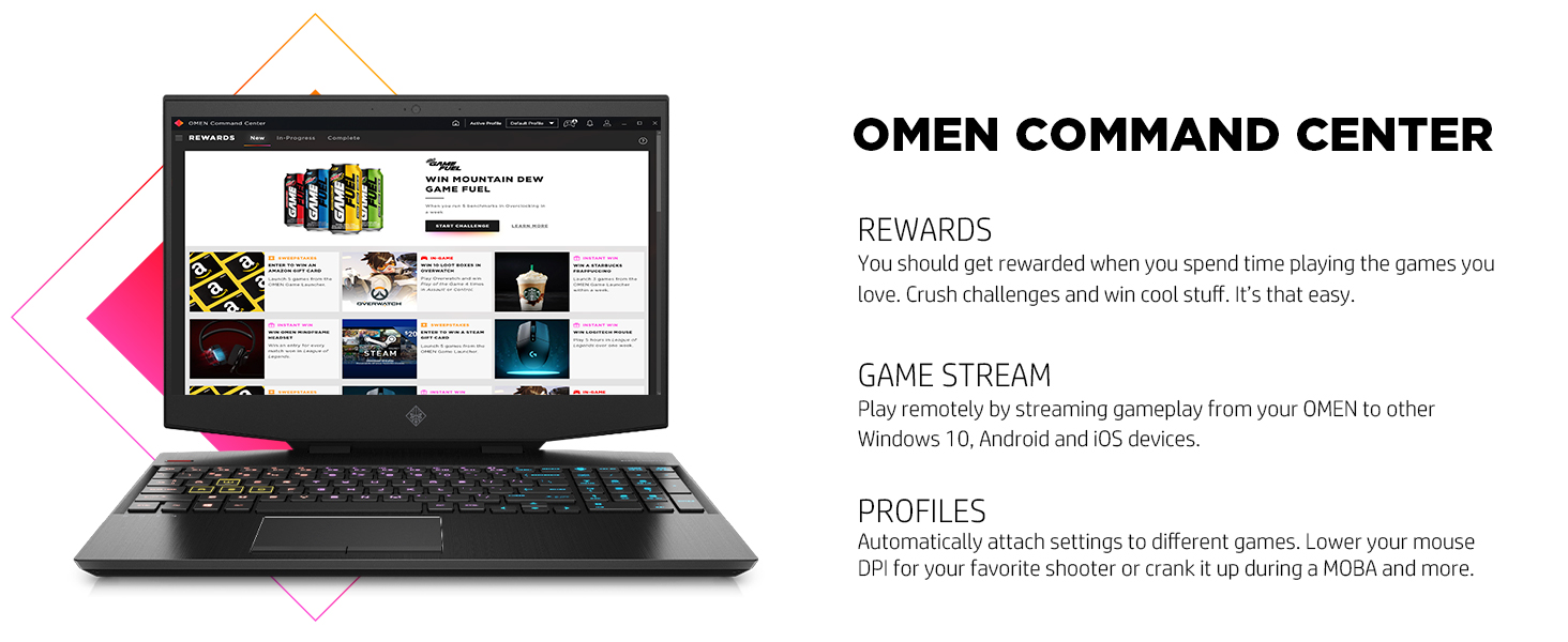 gpu cpu omen command center coach coaching rewards prize challenge stream remote gameplay prioritize