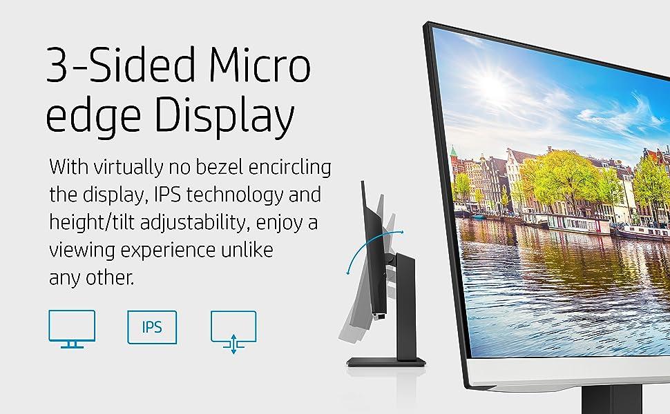 HP 24mh FHD Monitor 3-sided micro-edge