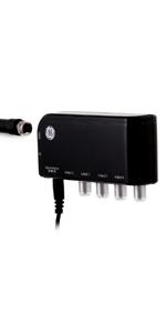 GE 4-Way Splitter and TV Antenna Amplifier