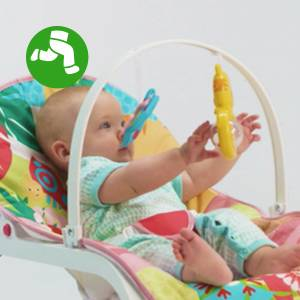 A rocker that grows with yourbaby from infant to toddler - up to 18 kg!