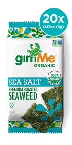 Seaweed Snack Sea Salt, organic, roasted, keto, low carb, sushi nori,  healthy snack, keto snack