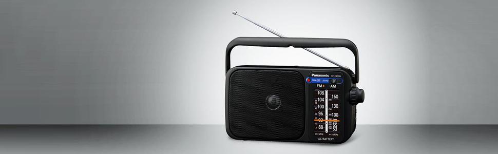 Panasonic RF-2400DEG-K - Radio Portátil FM/Am, (770mW, Iluminación ...