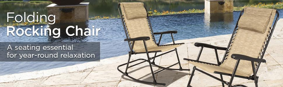 Amazon Best Choice Products Folding Rocking Chair Foldable – Folding Rocking Lawn Chairs