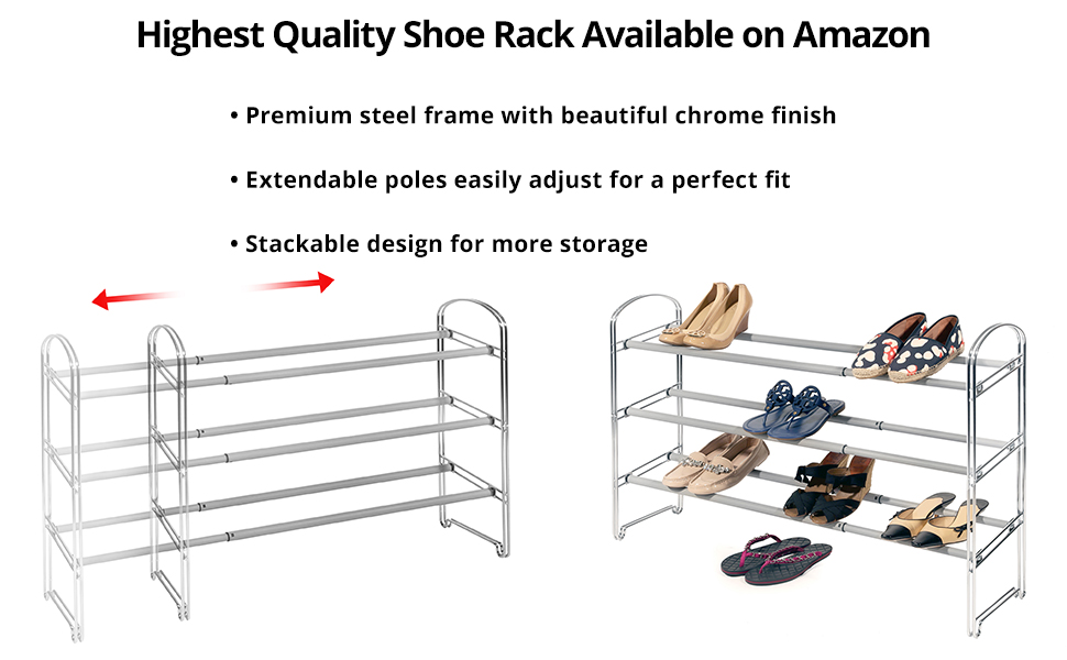 seville classics shoe rack utility home storage rack business office shop store steel resin wood